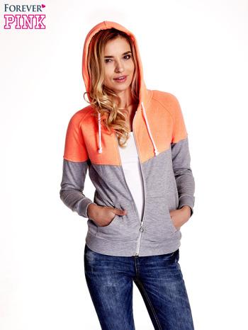 Pomarańczowa bluza z szarym pasem                                  zdj.                                  1