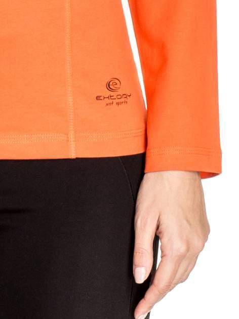Pomarańczowa bluzka sportowa basic PLUS SIZE                                  zdj.                                  5