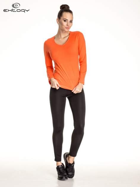 Pomarańczowa bluzka sportowa basic PLUS SIZE                                  zdj.                                  2
