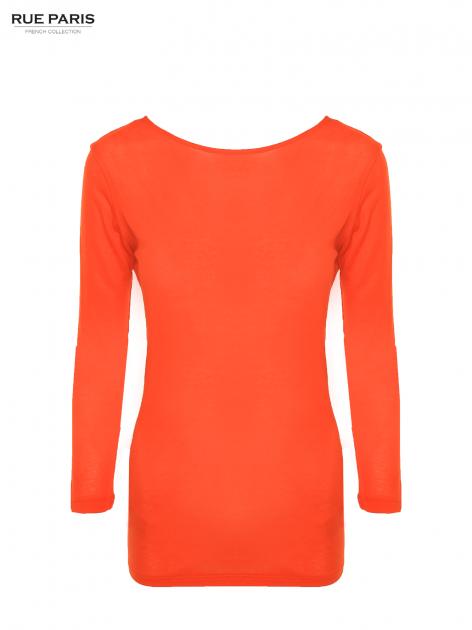 Pomarańczowa bluzka z dekoltem na plecach                                  zdj.                                  5