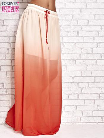 Pomarańczowa długa spódnica maxi z efektem ombre                                  zdj.                                  1