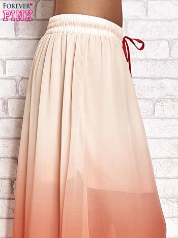 Pomarańczowa długa spódnica maxi z efektem ombre                                  zdj.                                  5