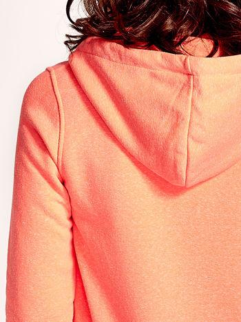 Pomarańczowa gładka bluza z kapturem                                  zdj.                                  7