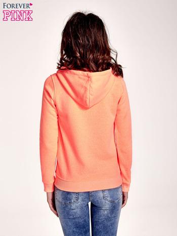 Pomarańczowa gładka bluza z kapturem                                  zdj.                                  4