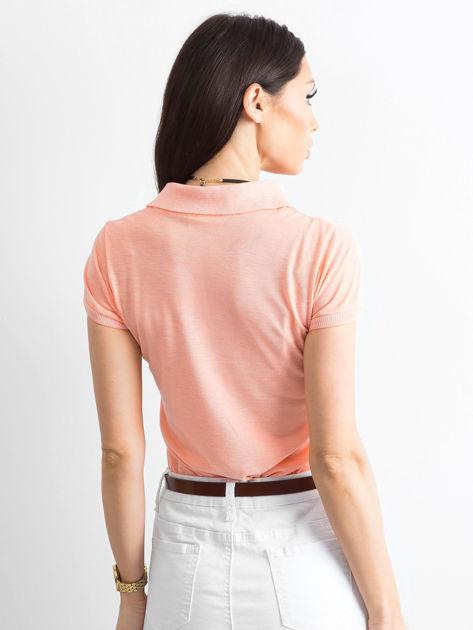 Pomarańczowa koszulka polo w kwiaty                              zdj.                              2