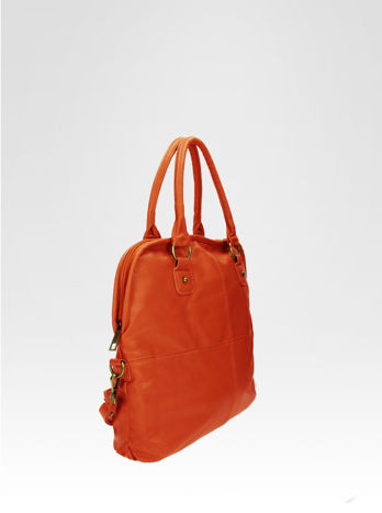 Pomarańczowa torba miejska na ramię                                  zdj.                                  2