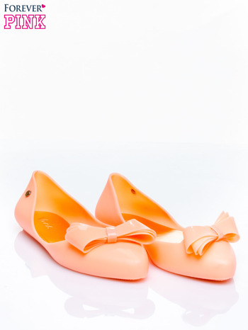 Pomarańczowe baleriny silicone Naomi gumowe z kokardą                                  zdj.                                  3