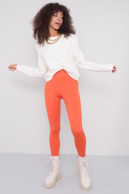 Pomarańczowe legginsy damskie BSL