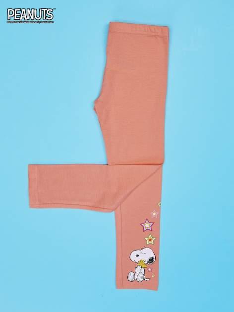 Pomarańczowe legginsy dla dziewczynki SNOOPY                                  zdj.                                  3
