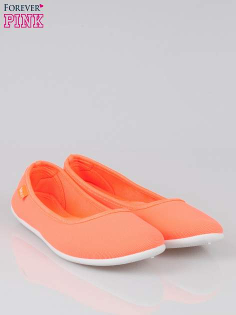 Pomarańczowe lekkie balerinki Cute Blush slip on                                  zdj.                                  2