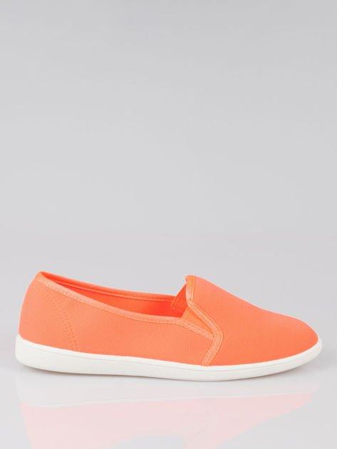 Pomarańczowe lekkie buty sliponki                                  zdj.                                  1