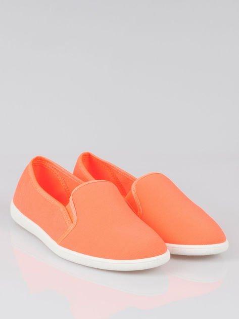 Pomarańczowe lekkie buty sliponki                                  zdj.                                  2