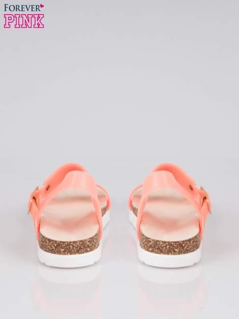 Pomarańczowe sandały damskie z blaszką                                  zdj.                                  3