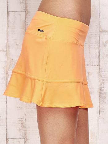 Pomarańczowe spodenki spódniczka tenisowa z falbanką                                  zdj.                                  5
