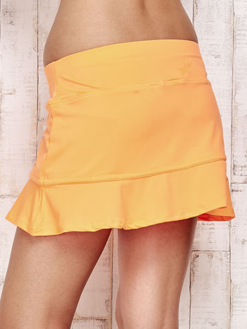 Pomarańczowe spodenki spódniczka tenisowa z falbanką                                  zdj.                                  6