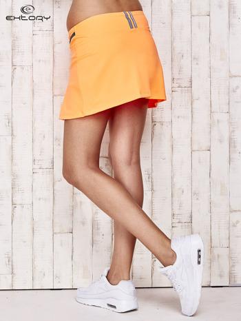 Pomarańczowe spodenki spódniczka tenisowa z szarymi wstawkami                              zdj.                              2