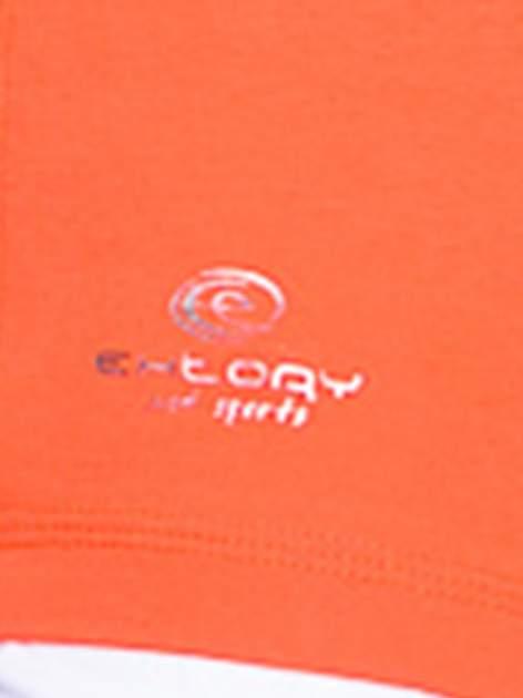 Pomarańczowy jednolity t-shirt sportowy                                  zdj.                                  4
