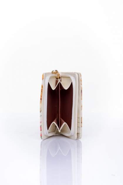 Pomarańczowy portfel z kwiatowym nadrukiem                                  zdj.                                  5