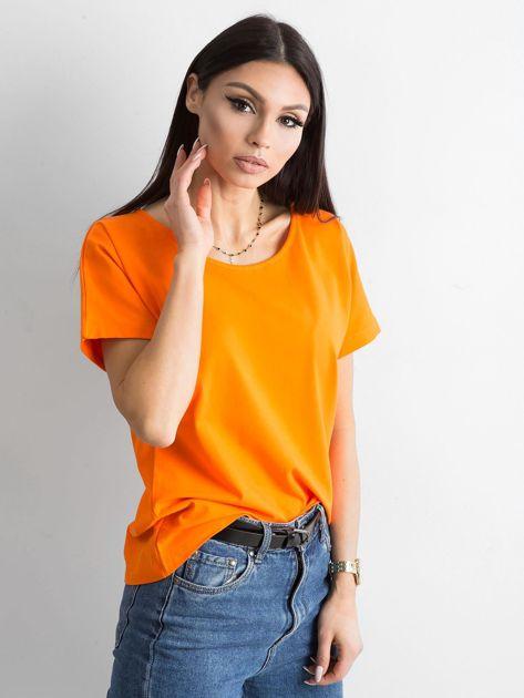 Pomarańczowy t-shirt Flow                              zdj.                              7