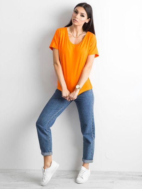 Pomarańczowy t-shirt Flow                              zdj.                              8