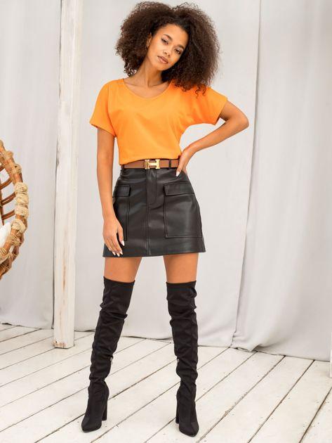 Pomarańczowy t-shirt Flow                              zdj.                              4