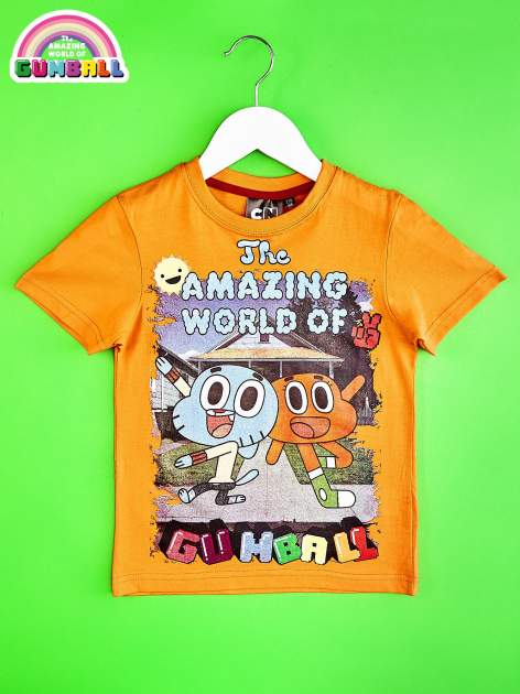 Pomarańczowy t-shirt chłopięcy GUMBALL                                  zdj.                                  1