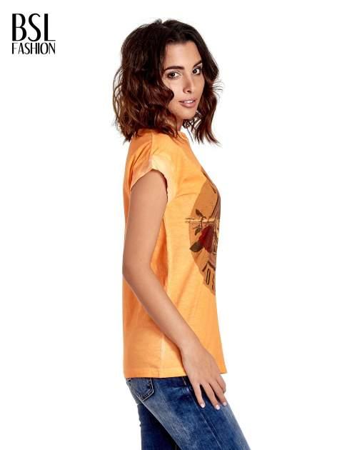 Pomarańczowy t-shirt z nadrukiem GUNS N' ROSES                                  zdj.                                  3