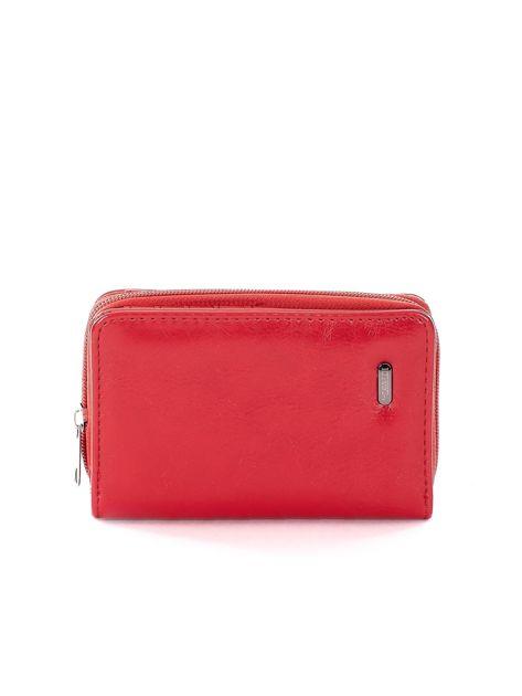 20c3b8170 Portfel damski czerwony ze skóry ekologicznej - Akcesoria portfele ...