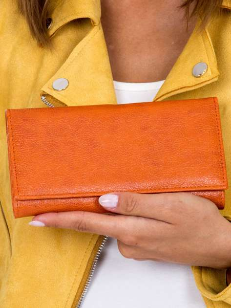 Portfel damski pomarańczowy podłużny