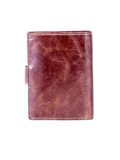 Portfel skórzany brązowy cieniowany                              zdj.                              2