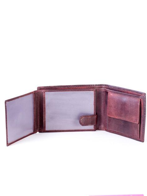Portfel ze skóry naturalnej brązowy                              zdj.                              5