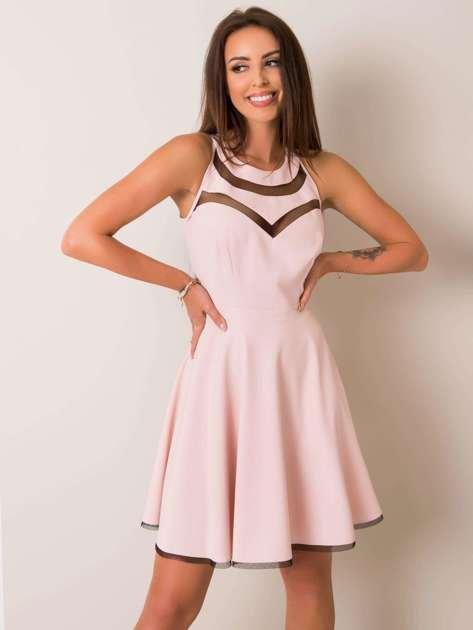 Pudroworóżowa sukienka Evelyn