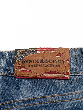 RALPH LAUREN Ciemnoniebieskie spodnie jeansowe w azteckie wzory                                  zdj.                                  4