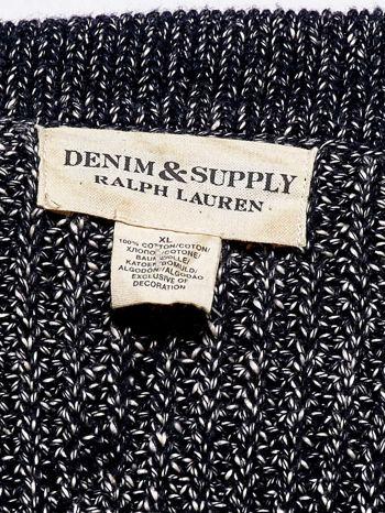RALPH LAUREN Granatowy melanżowy sweter męski na guziki                                  zdj.                                  4