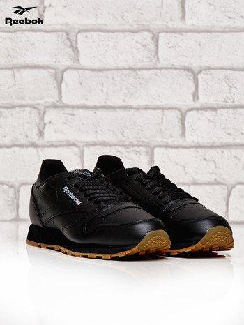REEBOK Czarne klasyczne buty męskie sportowe Classic Leather