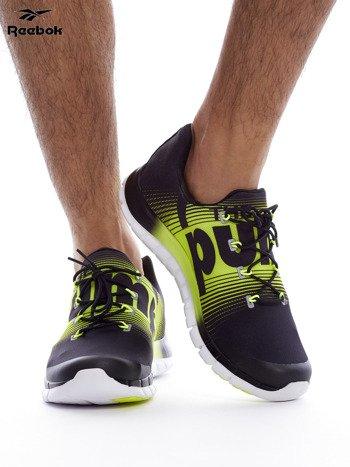 REEBOK ZPUMP FUSION Czarno-żółte buty męskie sportowe z nadrukiem                              zdj.                              2