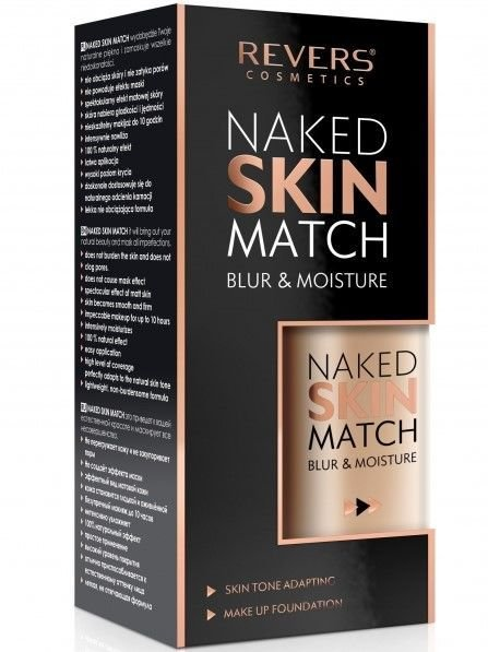 REVERS Fluid NAKED SKIN MATCH NR 02 NUDE BEIGE, 30 ml                              zdj.                              1