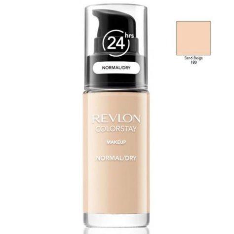 REVLON ColorStay podkład z pompką do skóry normalnej i suchej z kompleksem SoftFlex 180 Sand Beige 30ml                                  zdj.                                  1