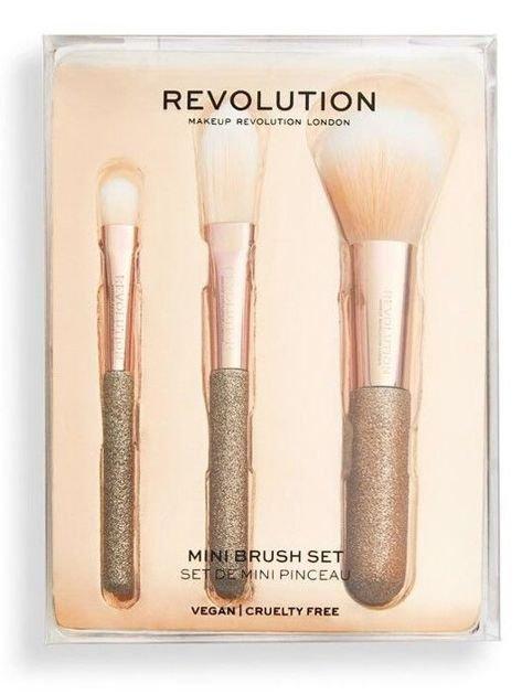 REVOLUTION Mini Brush Set Zestaw trzech mini pędzli do makijażu