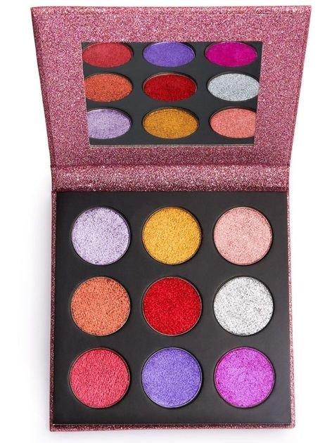 REVOLUTION Pressed Glitter Palette Paleta Prasowanych Brokatów Diva