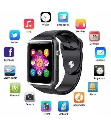 RONEBERG Smartwatch RA1 Współpracuje z Android oraz iOS Powiadomienia Połączenia Krokomierz Monitor snu różowo-srebrny                              zdj.                              2