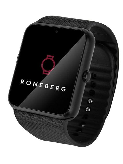 RONEBERG Smartwatch RG08 Współpracuje z Android oraz iOS Powiadomienia Połączenia Krokomierz Monitor snu Czarny                              zdj.                              2