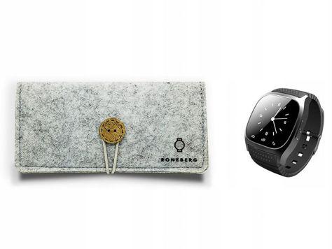 RONEBERG Smartwatch RM26 Współpracuje z Android oraz iOS Powiadomienia Połączenia Krokomierz Monitor snu Czarny                              zdj.                              4