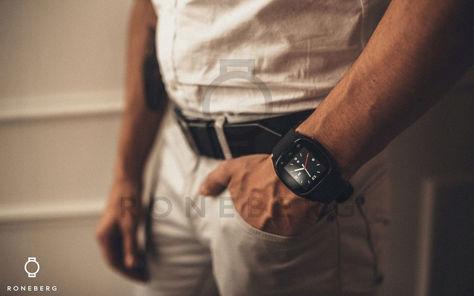 RONEBERG Smartwatch RM26 Współpracuje z Android oraz iOS Powiadomienia Połączenia Krokomierz Monitor snu Czarny                              zdj.                              5