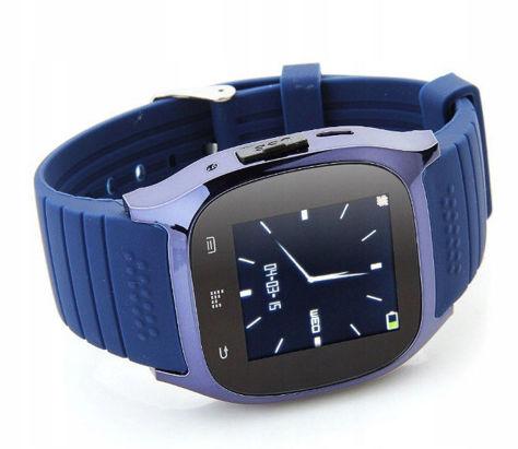 RONEBERG Smartwatch RM26 Współpracuje z Android oraz iOS Powiadomienia Połączenia Krokomierz Monitor snu Niebieski                              zdj.                              2
