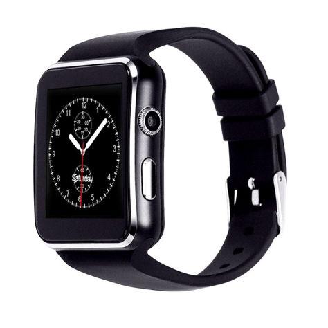 RONEBERG Smartwatch RX6 Współpracuje z Android oraz iOS Powiadomienia Połączenia Krokomierz Monitor snu Czarny