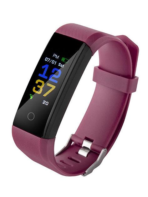 RONEBERG Smartwatch Smartband R115 Pulsometr Ciśnieniomierz Oksymetr Powiadomienia Długi czas działania Wodoodporny IP 67 Fioletowy