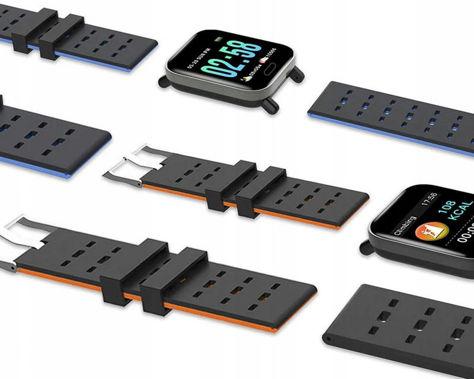 RONEBERG Smartwatch Smartband RA6 Pulsometr Ciśnieniomierz Oksymetr Powiadomienia Długi czas działania Czarny                              zdj.                              8