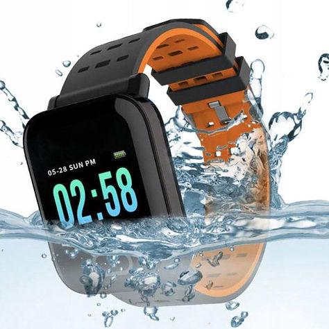 RONEBERG Smartwatch Smartband RA6 Pulsometr Ciśnieniomierz Oksymetr Powiadomienia Długi czas działania niebiesko-czarny                              zdj.                              5