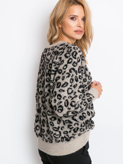 RUE PARIS Beżowy sweter Corsica                              zdj.                              2